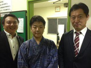 豊島区生まれ豊島区育ちの歌舞伎俳優、市川弘太郎さん、東京青年会議所豊島区委員会の湯浅さんと