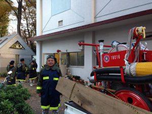 おはようございます。 本日は池袋消防団参集訓練です。