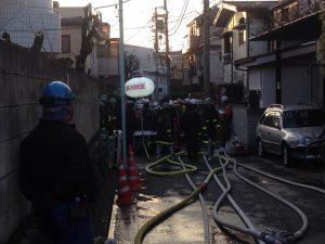 目白4丁目35付近にて火災が発生。