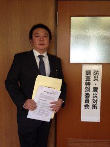 本日の豊島区議会は、防災・震災対策調査特別委員会です。