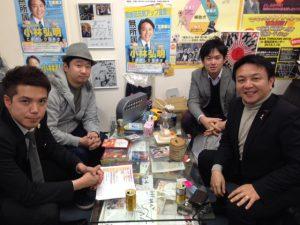 2/6 東京池袋ローターアクトクラブ・クラブ奉仕委員会の橋本委員長、ローターアクトクラブ会員の東迎くんにお越し頂きました。  東京池袋ローターアクトクラブは、30歳までの若者が所属できる、世界159か国7388団体・約18万人が所属する世界最大級の社会奉仕団体です。